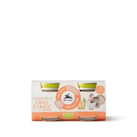 Alce Nero Organic white meat and vegetable pur�e baby food 2x80g