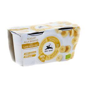 Alce Nero Whole milk banana yoghurt 2x125g