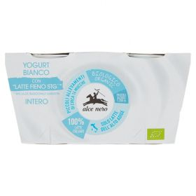 Alce Nero Whole milk white yoghurt 2x125g