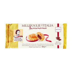 Matilde Vicenzi Puff pastry bites filled with chocolate cream 100g
