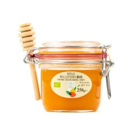 Giù Giù Organic mixed flower honey + spoon