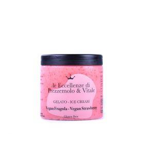 Le Eccellenze di Prezzemolo & Vitale Vegan Strawberry Ice Cream gr.350