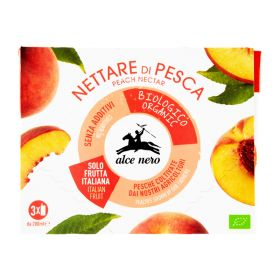 Alce Nero Organic peach nectar box 3x200ml