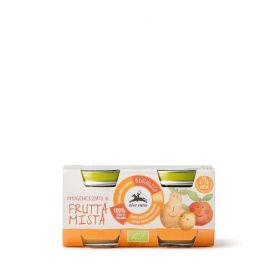 Alce Nero Organic mixed fruit purè baby food 2x80g