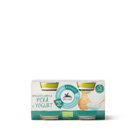 Alce Nero Organic pear and yoghurt pur�e baby food 2x80g