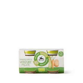 Alce Nero Organic mixed vegetable pur�e baby food 2x80g