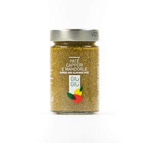 giù giù patè capperi e mandorle sicilia siciliano gr 200 prezzemolo e vitale