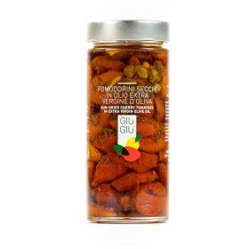 giù già pomodorini secchi in olio extravergine di oliva gr 300 sicilia siciliano prezzemolo e vitale